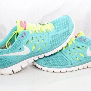 Nike Flex 2013 Women Turquoise Running Shoes